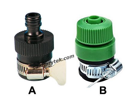 Universal garden water hose tap connector